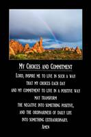 My Choices and Commitment Prayer