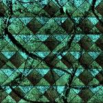 """Distressed geometric pattern"" by gavila"