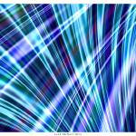 """Color & Form Abstract - Blue Light Refraction"" by LeahMcNeir"