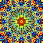 """Psychedelic Melting Pot Mandala"" by LeahMcNeir"