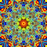 Psychedelic Melting Pot Mandala Art Prints & Posters by Leah McNeir
