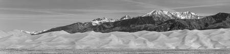 Great Sand Dunes National Park Panorama BW
