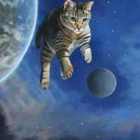 SpaceKittyIII Art Prints & Posters by Susan Van Sant