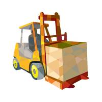 Forklift Truck Materials Handling Box Low Polygon