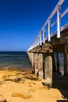 Jetty at Point Lonsdale with Blue Sky and Golden S