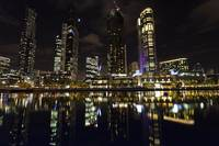 Night Photo of Melbourne City across the Yarra Riv