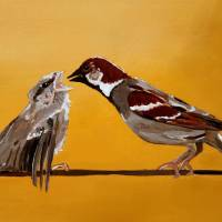 sparrows Art Prints & Posters by Lindsey Janich