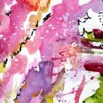 """Abstract Lavender Flows 1 Watercolor"" by GinetteCallaway"