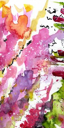 Abstract Lavender Flows 1 Watercolor