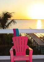 Pink Chair in the Keys