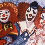 """Clown Buddies by Sonya P."" by flowerswithfeelings"
