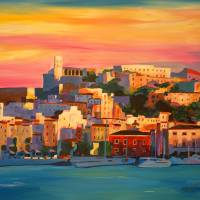Ibiza Eivissa Old Town and Harbour Pearl of the Me Art Prints & Posters by M Bleichner
