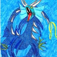 Blue Dragon 2015 Art Prints & Posters by Naomi O'Brien