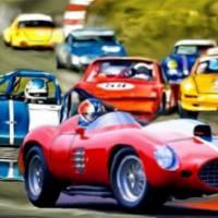 1955 Ferrari 410 Sport, racing. Art Prints & Posters by Tom Sachse