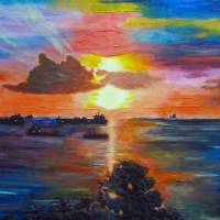 Claxton Bay Sunset Art Prints & Posters by Waheeda Ramnath