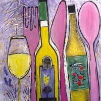 Over A Glass of Wine Art Prints & Posters by Maggie Bernet