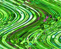 Lime Wave - Large - Landscape