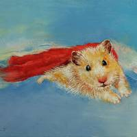 Hamster Superhero Art Prints & Posters by Michael Creese
