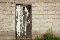 Weathered White Wood Door