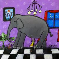 The Elephant In The Room Art Prints & Posters by Juli Cady Ryan