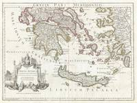 Vintage Map of Southern Greece (1794)