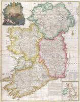 Vintage Map of Ireland (1794)