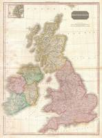 Vintage Map of The British Isles (1818)