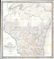 Vintage Map of Wisconsin (1856)
