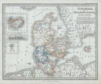 Vintage Map of Denmark (1862)