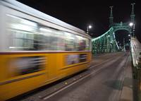 Budapest, tram on Liberty Bridge