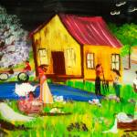 """On The Bayou ( series) origanal hand painted tile"" by ninaspencer"