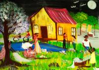 On The Bayou ( series) origanal hand painted tile