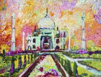 Taj Mahal India by Ginette