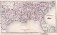 Vintage Map of The Southern United States (1868)