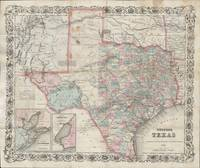 Vintage Map of Texas (1870)
