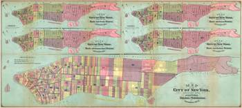 Vintage NYC Political Ward Map (1870)