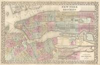 Vintage Map of NYC and Brooklyn (1882)