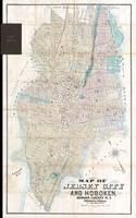Vintage Map of Jersey City and Hoboken (1886)