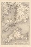 Vintage Cape Cod Old Colony Line Map (1888)