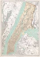 Vintage Map of New York City (1895)
