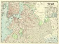 Vintage Map of NYC and Brooklyn (1897)