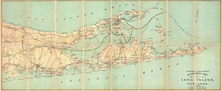 Vintage Road Map of Long Island (1905)