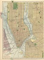 Vintage Map of New York City (1910)