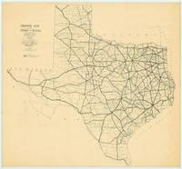 Vintage Map of The Texas Highways (1922)