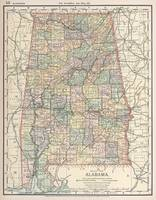 Vintage Map of Alabama (1891)