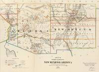 Vintage Map of Arizona and New Mexico (1866)
