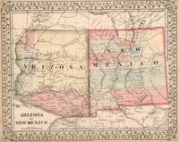 Vintage New Mexico and Arizona Map (1868)