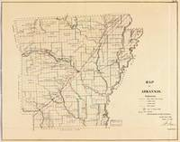 Vintage Map of Arkansas (1866)