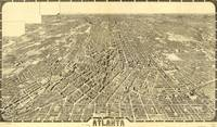 Vintage Pictorial Map of Atlanta Georgia (1919)