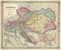 Vintage Map of Austria (1856)
